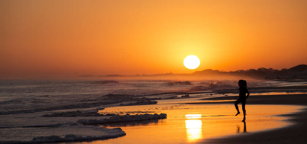 Coucher de soleil à Punta del Este
