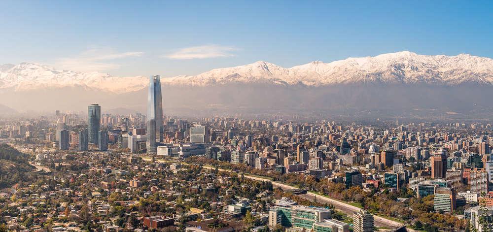 Panorama de Santiago depuis le Cerro San Cristobal