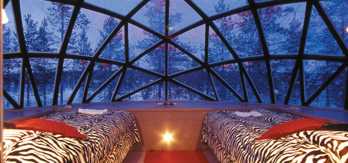hôtel igloo de verre